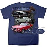 Get-A-Horse 1964 -1966 Ford Mustang, Mustang Convertible & Fastback GT T-shirt -large