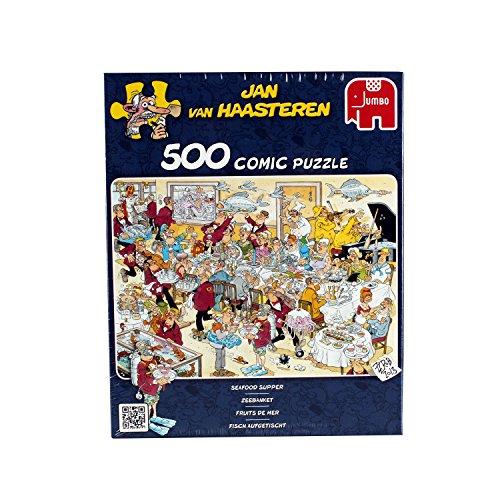 Jumbo 17458 Jan van Haasteren Seafood Jigsaw Puzzle, 500 pezzi