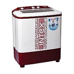 Intex WMS62TL Semi-automatic Top-loading Washing Machine (6.2 Kg, White and Maroon)
