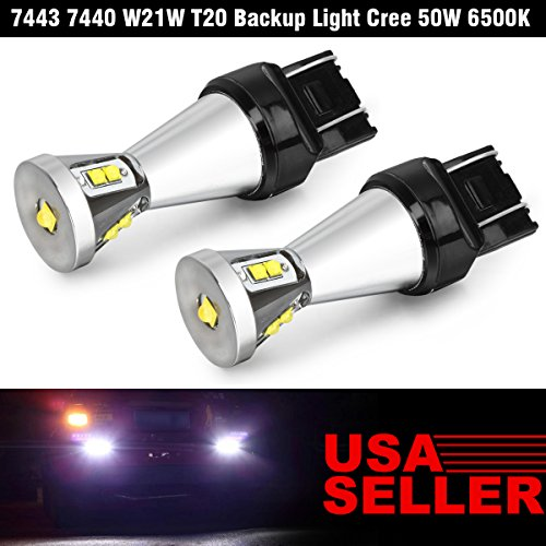 Partsam 2pcs 7443 T20 Cree 50W White 7000k Backup Reverse Light 700 Lumens Led (Oem 2010 Honda Crv Antifog Lights compare prices)