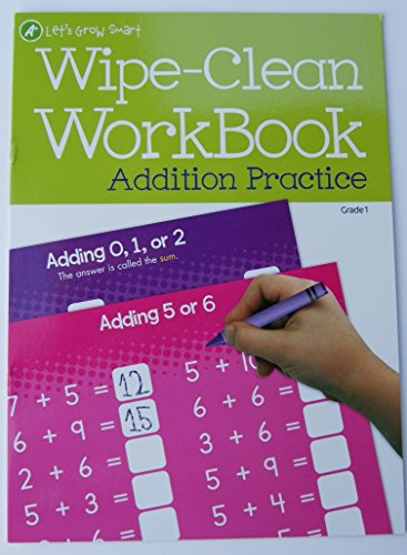 Let's Grow Smart Addition Practice Wipe-clean Work Book - 1