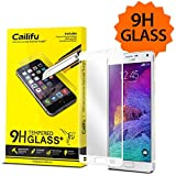 Galaxy Note 4 Screen Protector (only White) Cailifu [Full Fit Tempered Glass] Highest Quality Premium High Definition...