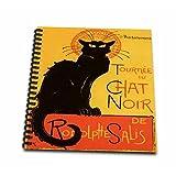 3dRose db_46907_2 Le Chat Noir Advertising, Art Nouveau, Black Cat, Cat, Cats, Chat Noir, Le Chat Memory Book, 12 by 12-Inch