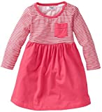 Girls Clothing Pink and White Striped Dress. Size: 4-5 years