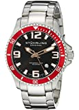 Stuhrling Original Men's 395.33TT11 Aquadiver Regatta Champion Professional Diver Swiss Quartz Date Red Bezel Watch