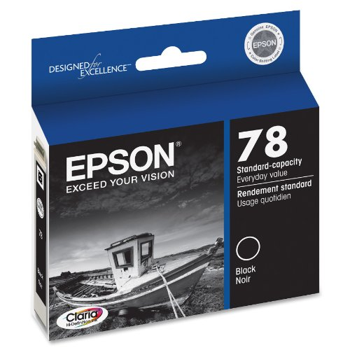 Epson T078120 Claria Hi-Definition 78 Standard-Capacity Inkjet Cartridge -Black