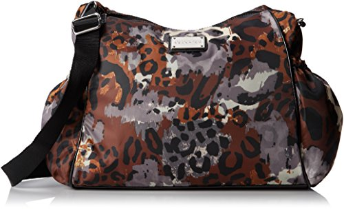Kenneth Cole Reaction Cornelia Messenger Diaper Cross Body Bag,Leopard Print,One Size
