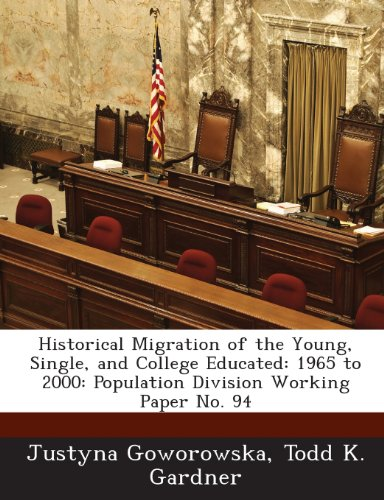 Historical Migration of the Young, Single, and College Educated: 1965 to 2000: Population Division Working Paper No. 94