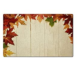 MSD Premium Large Gaming Tablemat Mousepad Half frame made with corlored maple leave during fall season Natural Rubber 28.4 x 17.7 x 0.2 Inch IMAGE 23240157