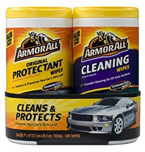 Armor All 10848 Protectant and Cleaning Wipe - 25 Sheets, (Pack of 2) from Armor All