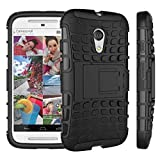 Moto G Case, Motorola G (2nd Generation) Case, Sophia Shop Dual Layer Drop Protection Design 2 in 1 Moto G (2nd Gen.) Case, Black Hard Cover Combine Multi-color Option TPU Soft Gel Middle Bumper Premium Slim Fit Impact Resistant Protective Armor Rugged Hard Moto G (2nd Gen.) Case, Heavy Duty Tough Rugged Dual Layer Case, Tire Series Armor Defender Protective Tough Dual Layer Protection Case ONLY for Moto G (2nd Gen.) Case Toughbox Carrier Compatibility At&t, Verizon, T-mobile, Sprint, and All International Carriers (Black)
