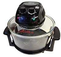 Designer Habitat 12 Litre Premium 1400w Black Halogen Oven Cooker complete with FREE Low Rack + High Rack + Tongs by Designer Habitat