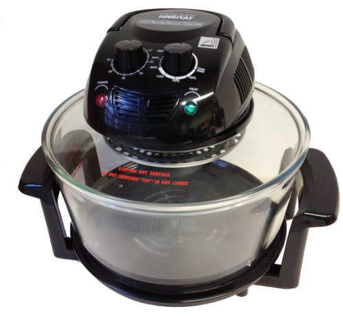 Designer Habitat 12 Litre Premium 1400w Black Halogen Oven Cooker complete with FREE Low Rack + High Rack + Tongs