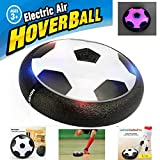Mansalee Kids Toys Training Football With Parents Game Children Toys Air Power Soccer Disk Indoor Outdoor Hover Soccer Ball Game with LED Lights (Black)