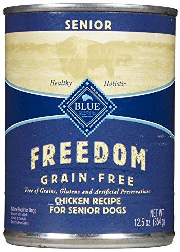 Blue Buffalo Blue Freedom Senior Dog Chicken Dinner Food, 12