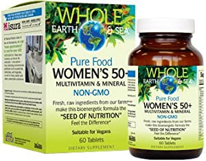 Whole Earth & Sea - Women's 50+ Multivitamin & Mineral, Raw, Whole Food Nutrition, 60 Tablets