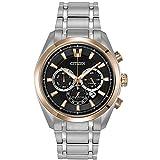 Citizen CA4017-59E Men's Silver Titanium Band with Black Dial Watch (Color: Black)
