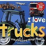 I Love Trucks Sticker Book