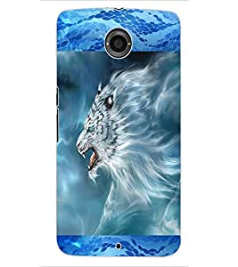 ColourCraft Smoke Lion Design Back Case Cover for MOTOROLA GOOGLE NEXUS 6