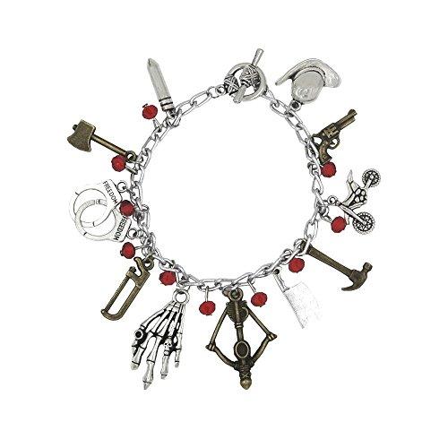 Polytree Walking Dead TV Series (11 Charms) Redstone Charm Bracelet