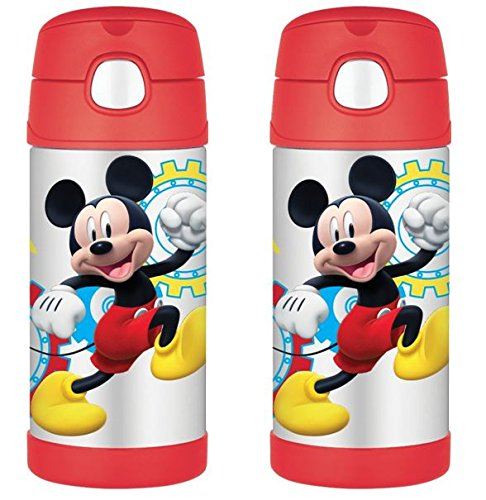 Thermos Funtainer Bottle 12 Ounce (2, Mickey Mouse)