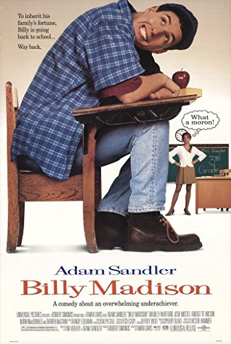 billy madison movie poster 1 sided original 27x40 adam sandler