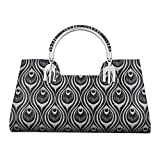 The Peacock Craft Womens Hand Bag Jelly Peacock Print Kelly (Silver)