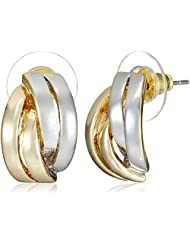 NewU Accessories Stud Earrings For Women (Golden And Silver) (30050816)