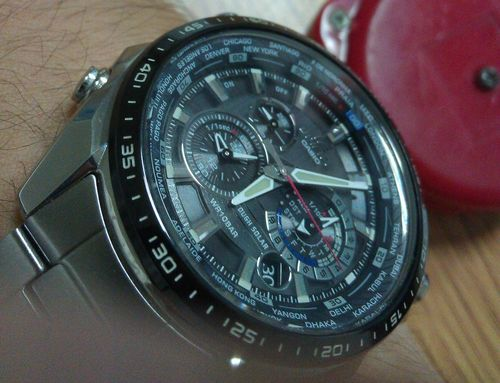 超值:Casio Men's EQS500DB-1A1 Edifice Stainless Steel Multi-Function Chronograph Watch-奢品汇 | 海淘手表 | 腕表资讯