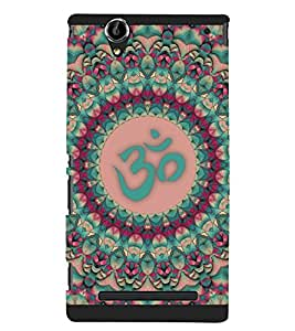 PrintVisa Religious & Spiritual OM 3D Hard Polycarbonate Designer Back Case Cover for Sony Xperia T2 Ultra
