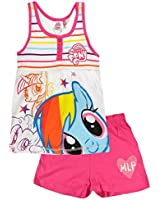 New Girls Official Licensed My Little Pony Short Sleeve Pyjamas | Main Picture to Illustrate Different Styles