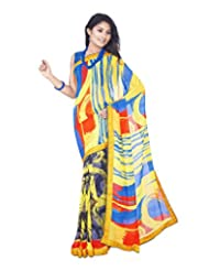 Aadarshini Women's Crepe Saree (113, Red And Gold)