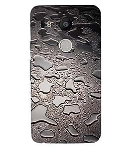 ColourCraft Beautiful Rain Pattern Design Back Case Cover for LG GOOGLE NEXUS 5X