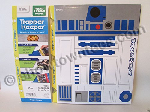 Mead Star Wars R2-D2 - 2 Pocket & Prong Folder - Snapper Trapper Keeper NEW!