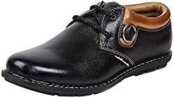 Massimo Italiano Mens Black Leather Trekking & Hiking Footwear- 40