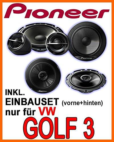 VW-Golf-3-Pioneer-Lautsprecher-fr-vorne-hinten-Einbauset