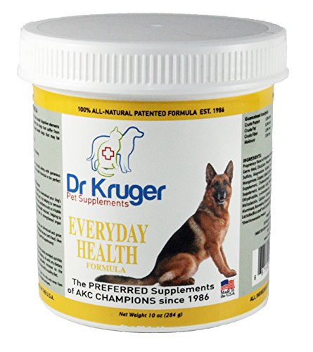 Dr. Kruger's Supplement Everyday Health for Dogs, 10-Ounce Plastic Jar (Plastic 10 Oz Jar compare prices)