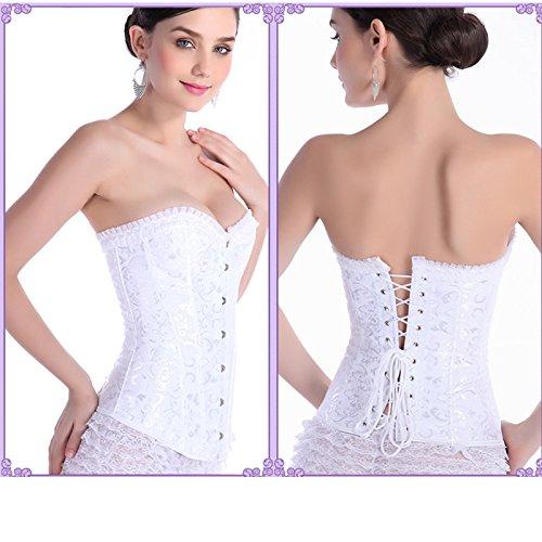 Grado superiore poliestere corsetto corsetto sexy per corsetto sexy di donne collant , white , xxxxl