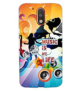 PrintDhaba MUSIC QUOTE D-7092 Back Case Cover for MOTOROLA MOTO G4 PLUS (Multi-Coloured)