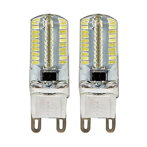 Ljy 2Pcs Pack G9 Dimmable 3014 Smd 80-Led 4W White Light Led Crystal Bulbs 360 Degrees Energy Saving Capsule Spotlight Lamps Ac 110V