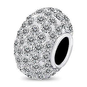 Sterling Silver Bracelets - Cz Crystal Charm Bracelets & Necklaces For Women