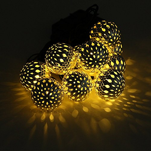 xcellent global battery powered amber yellow morocco globe. Black Bedroom Furniture Sets. Home Design Ideas