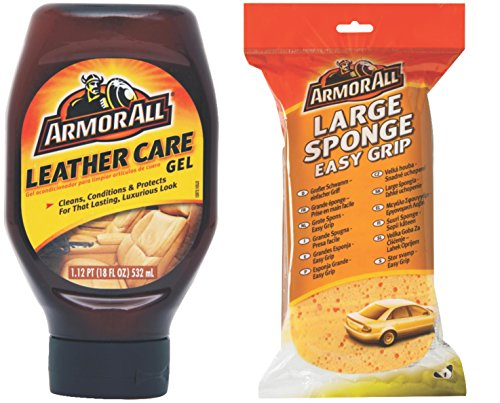 Armor All Combo Pack of Leather Care Gel (532 ml) and Large Sponge