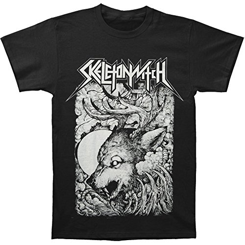 Arnoldo Blacksjd Skeletonwitch Men's Wolf T-shirt Black Large
