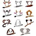 Childrens Animal Ears Headband & Tail...