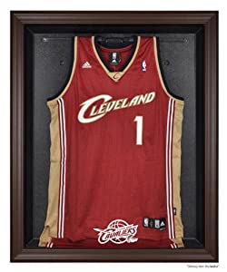 Cleveland Cavaliers Brown Framed Logo Jersey Display Case by Sports Memorabilia