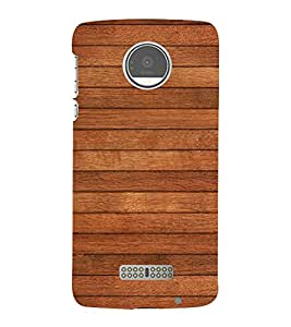 Brown Wood Texture 3D Hard Polycarbonate Designer Back Case Cover for Motorola Moto Z :: Motorola Moto Z Droid