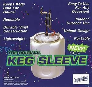 The Original Keg Sleeve: Full-Size Portable Beer Keg Vinyl Indoor/Outdoor Cooler (Congratulations Version)