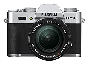 Fujifilm X-T10 Silver Mirrorless Digital Camera Kit with XF 18-55mm F2.8-4.0 R LM OIS Lens