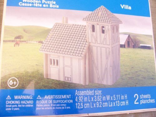 Cheap Michaels Creatology Wooden Puzzle  Villa (B005GM9KDK)